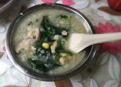 营养菠菜瑶柱瘦肉粥