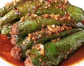肉酿虎皮青椒