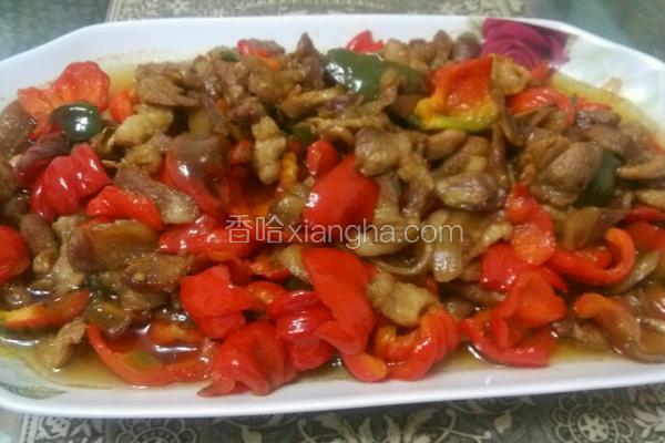 灯笼椒炒肉
