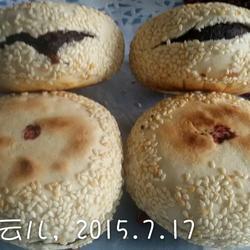 红豆芝麻饼