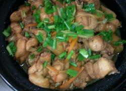 姜葱土豆焖鸡腿