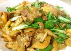 平菇肉片小炒