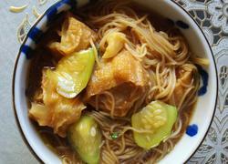 丝瓜油条米粉素汤(原创)
