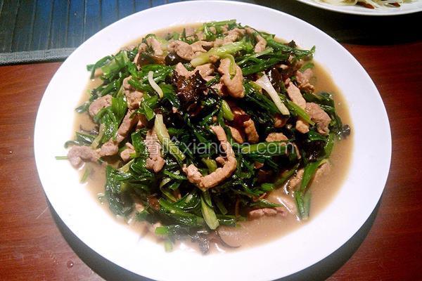韭菜炒肉条