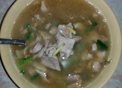 猪肝粉肠汤
