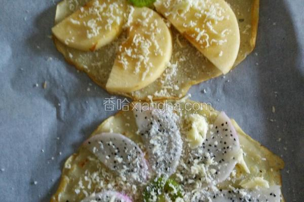 芝士焗水果煎饼