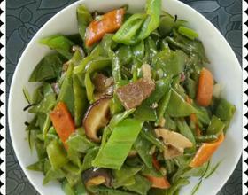 扁豆角炒香菇牛肉