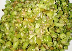 简易素炒豆角米