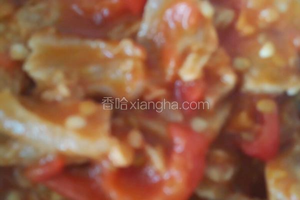 蕃茄炒油渣