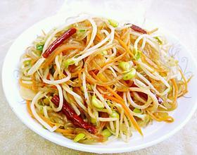 黄豆芽炒粉条[图]