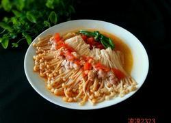 肉末茄汁金针菇