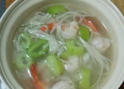 鲜虾丝瓜汤
