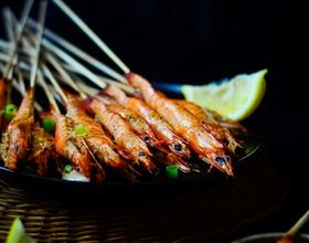 孜然串烤虾[图]