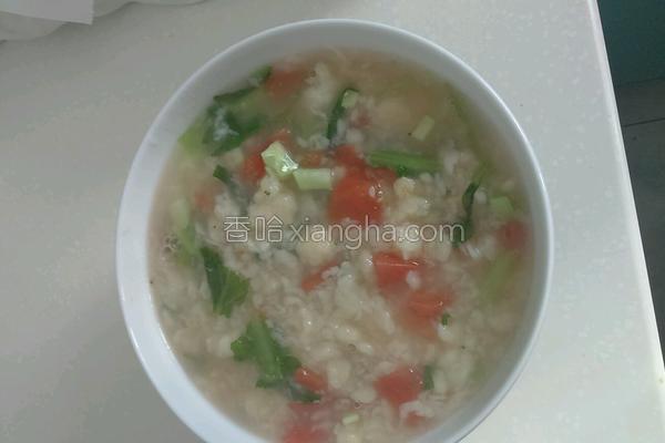 五彩疙瘩汤的做法