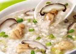 香菇瘦肉芽菜粥