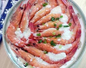 蒜蓉蛋清蒸九节虾