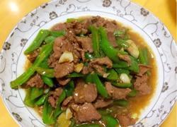青椒猪肝炒瘦肉