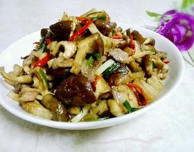 冬菇炒五花肉
