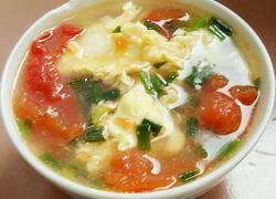 西红杮蛋花汤
