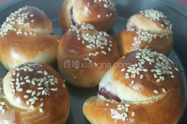 花样紫薯面包