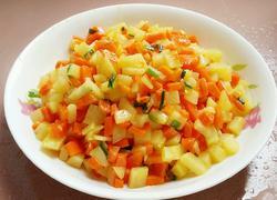 香葱土豆胡萝卜丁
