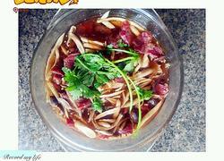 茶树菇蒸牛肉