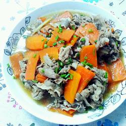 胡萝卜炖肥牛的做法[图]