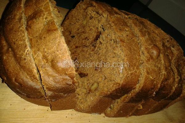面包机版大枣红糖核桃面包
