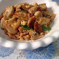 豆腐炒蟹棒