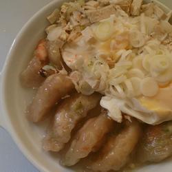 """葱豆腐虾蛋(搭""""四季黄金虾饺"""")"""