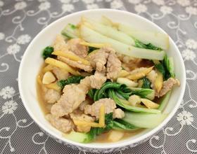 青菜炒肉片