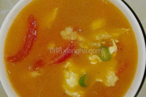 番茄青椒蛋汤