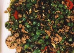 豆角肉末橄榄菜