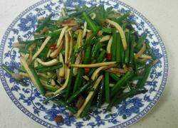 腊肉熏干炒韭菜花