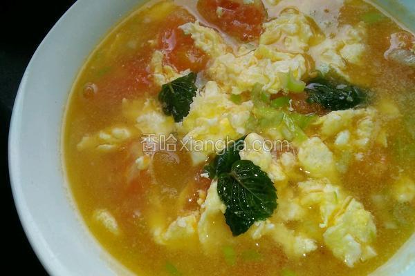 薄荷柿子鸡蛋汤