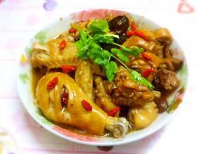 香菇瑶柱蒸鸡