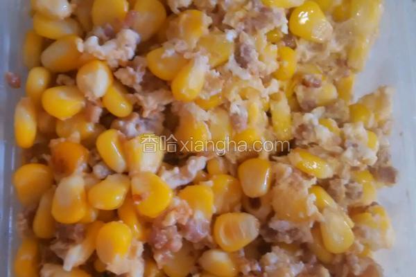 肉碎玉米炒鸡蛋