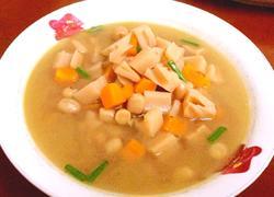 莲藕花生汤