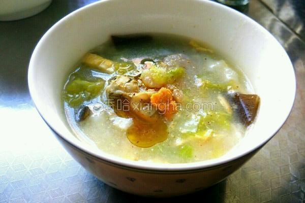 海鲜疙瘩汤的做法