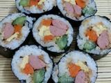 五颜六色的寿司的做法[图]