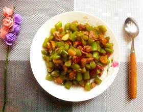 肉丁炒四季豆