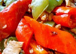 双椒炒肉片