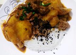 咖喱土豆鸡腿饭