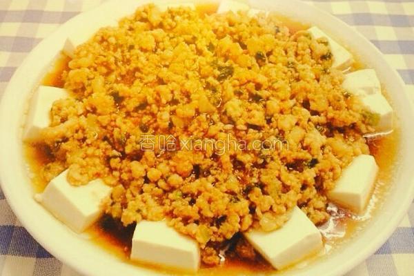 肉沫蒸豆腐的做法