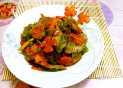 红萝卜炒肉卷