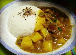 土豆牛肉咖喱饭
