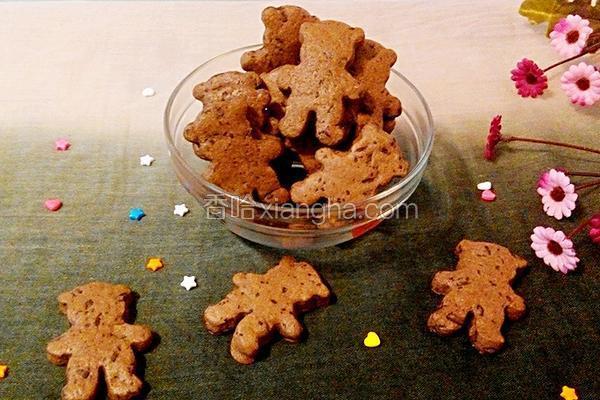 巧克力可可小熊饼干
