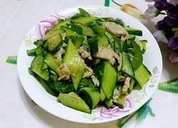 黄瓜溜肉片