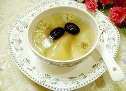 雪梨红枣菊花茶