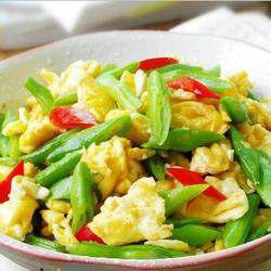 四季豆炒鸡蛋
